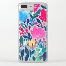 hand painted flowers_3a Clear iPhone Case