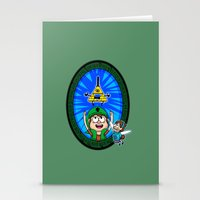 gravity falls Stationery Cards featuring Gravity Falls: Hyrule Falls by Macaluso