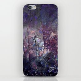 Cracked Purple Geode Texture iPhone Skin