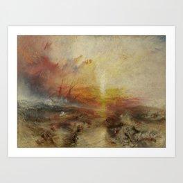 Joseph Mallord William Turner's The Slave Ship Art Print