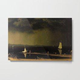 Thunder Storm on Narragansett Bay, Rhode Island by Martin Johnson Heade. Metal Print