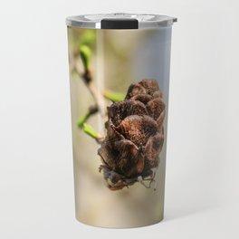 An old cone of fir. Travel Mug