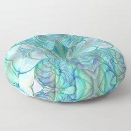 Abalone Shell Nautilus Kalidescope Floor Pillow