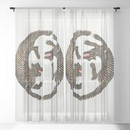 Japanese Tiger Sheer Curtain