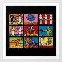 keith haring Art Prints featuring Keith Haring & star W.2 by le.duc
