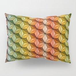 Wooden Asanoha Colorful Pillow Sham