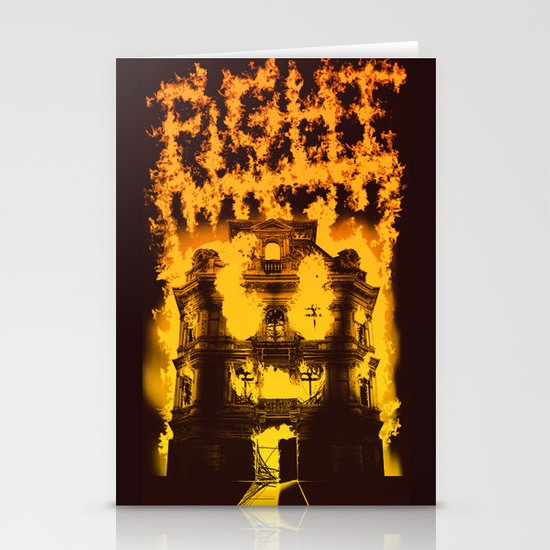 Fight with fire Stationery Cards