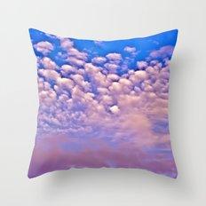 Strawberry Skies Throw Pillow