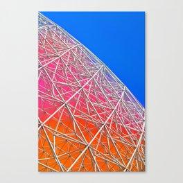 Rainbow Biosphere Mesh Canvas Print