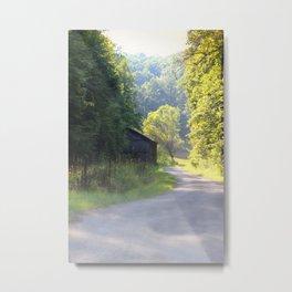 Foggy Mountain morning Metal Print