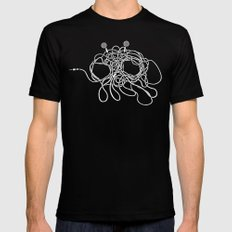 His Wiry Appendage Black MEDIUM Mens Fitted Tee
