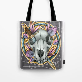 Wolf Skull by Kevin Thrun Tote Bag