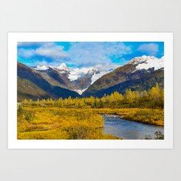 Autumn in Portage Valley - Alaska Art Print