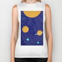 solar system Biker Tanks featuring Solar System by Quinn Shipton