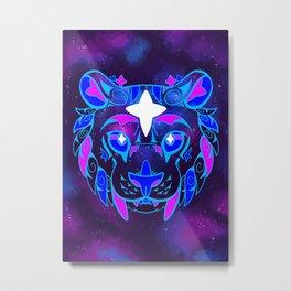 Galaxy Cats - North Star Metal Print