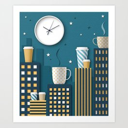 Coffee Night Art Print