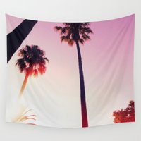 palm tree Wall Tapestries featuring Palm tree by Emma.B