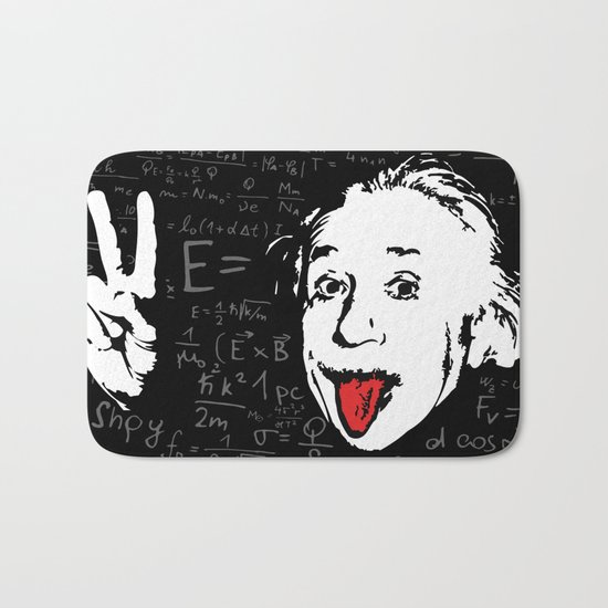 Silly Wisdom - Albert Einstein Bath Mat