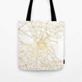 DUBLIN IRELAND CITY STREET MAP ART Tote Bag