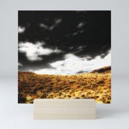 Exploring Sagebrush Field And Sky Mini Art Print