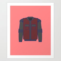 SELF-ADJUSTING AND AUTO-DRYING JACKET - Back to the future series Art Print