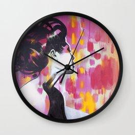 Neon Geisha Wall Clock