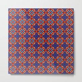 Moroccan Tile 1B - Red Metal Print