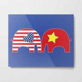 U.S.-Vietnam Friendship Elephants Metal Print