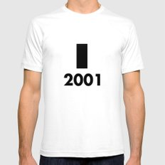 2001: A Minimalist Space Odyssey Mens Fitted Tee White SMALL