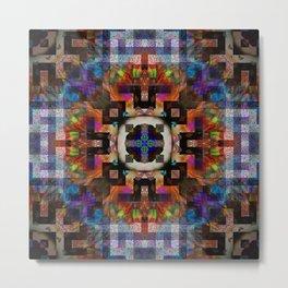 Abstract Mandala Design Metal Print