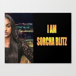 I am Sorcha Blitz Canvas Print