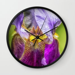 Purple Iris 2018 Wall Clock