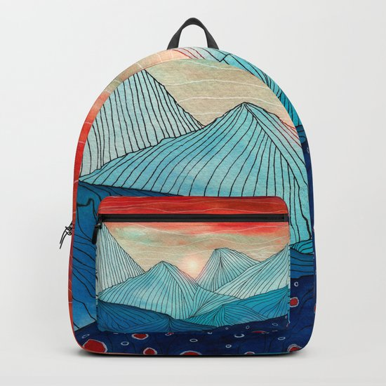 Lines in the mountains IV Backpack