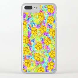 Hawaiian Yellow Flowers Clear iPhone Case