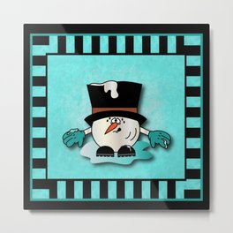 Snowball Guy One Metal Print