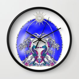 Sea Horse Kiss Wall Clock