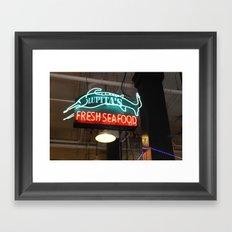 Those Neon Lights Framed Art Print