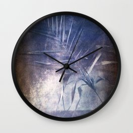 STILL LIFE WITH A PALM BRANCH. Film photography. Wall Clock