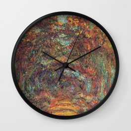 Claude Monet's The Rose Walk, Giverny Wall Clock
