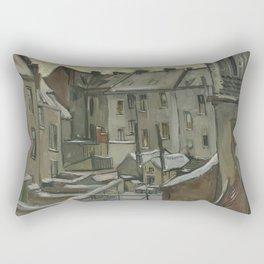 Houses Seen from the Back Rectangular Pillow