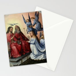 Michel sittow - Coronation of the Virgin Stationery Cards