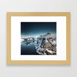 lofoten skyline Framed Art Print