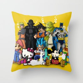 Characters Chilling (yellow) Throw Pillow