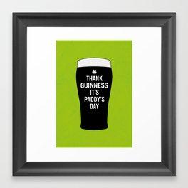Thank Guinness It's Paddy's Day Framed Art Print