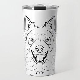 Samoyed Line Drawing Travel Mug