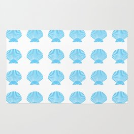 Light Blue Seashell Rug
