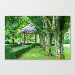 Green Gazebo Canvas Print