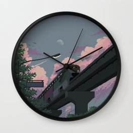 Moonrise Train Wall Clock