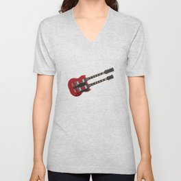 Double Neck Guitar Unisex V-Neck