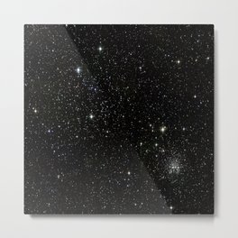 Space - Stars - Starry Night - Black - Universe - Deep Space Metal Print